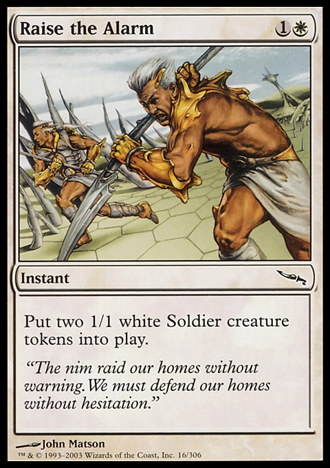 Raise the Alarm card from Mirrodin
