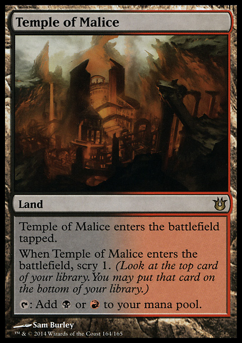 Temple of Malice original card image