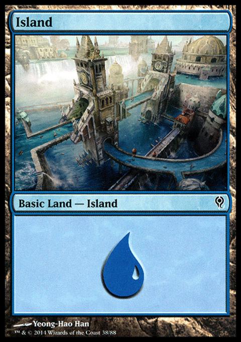 Island (38) card from Duel Decks: Jace vs. Vraska