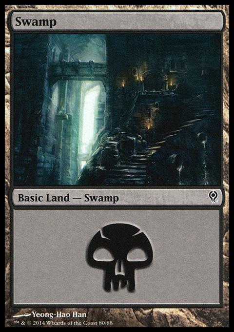 Swamp (80) card from Duel Decks: Jace vs. Vraska