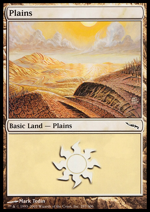 Plains (287)  card from Mirrodin