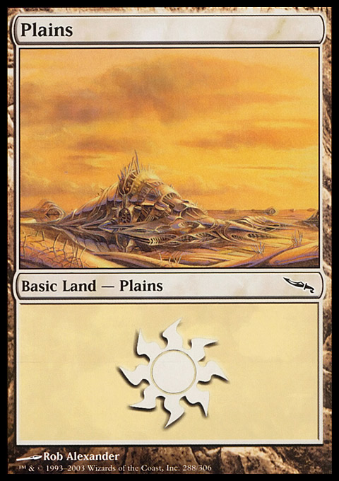 Plains (288)  card from Mirrodin
