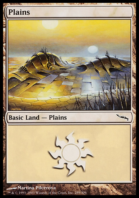 Plains (289) card from Mirrodin
