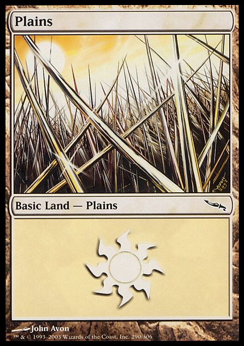 Plains (290)  card from Mirrodin