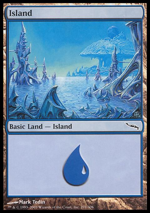 Island (291)  card from Mirrodin