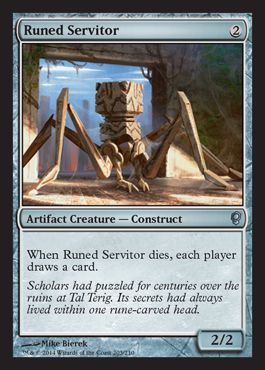 Runed Servitor card from Conspiracy