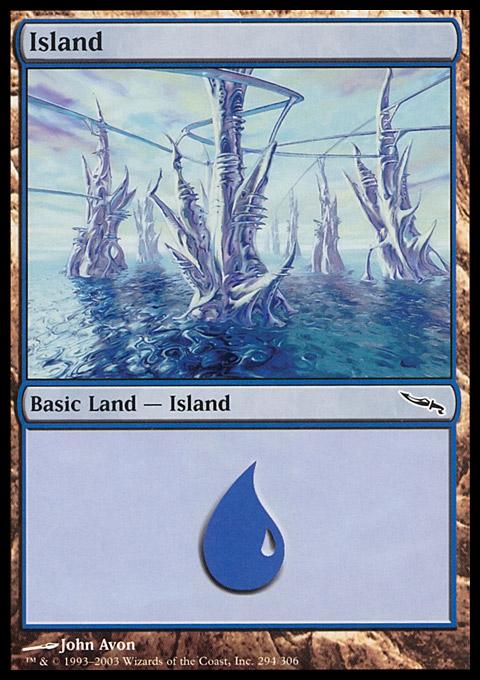 Island (294)  card from Mirrodin