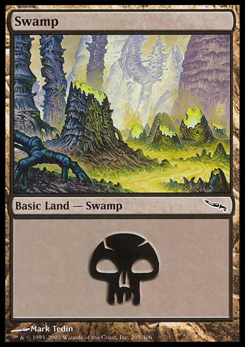 Swamp (295)  card from Mirrodin