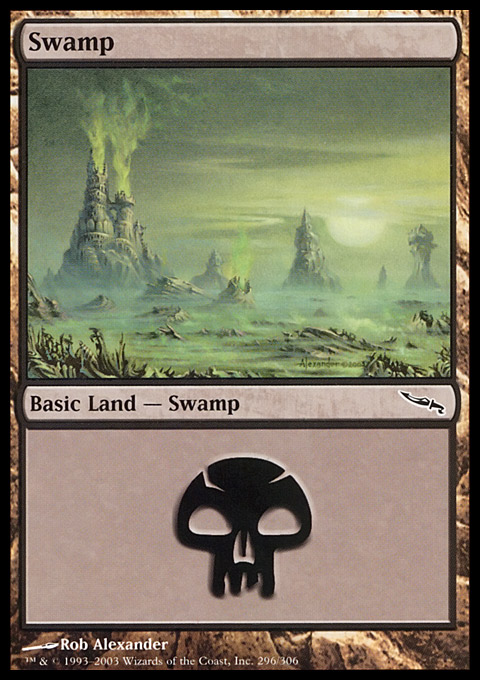 Swamp (296)  card from Mirrodin