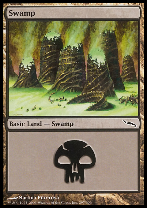 Swamp (297)  card from Mirrodin