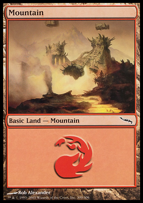 Mountain (300)  card from Mirrodin