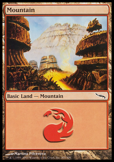 Mountain (301)  card from Mirrodin