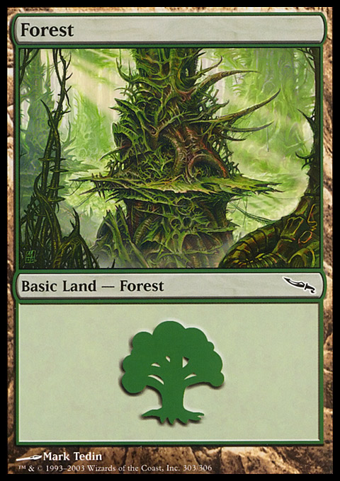 Forest (303) card from Mirrodin