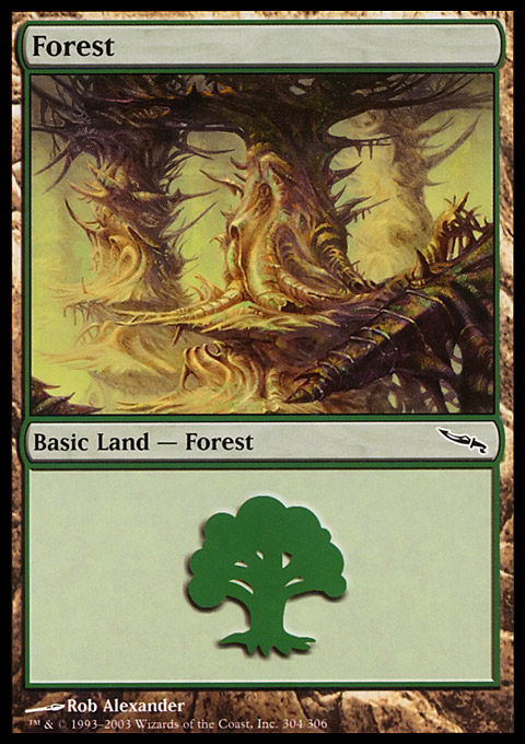 Forest (304) card from Mirrodin