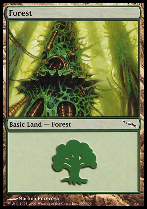 Forest (305) card from Mirrodin
