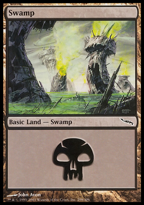 Swamp (298)  card from Mirrodin