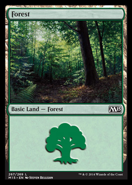 Forest (267) card from Magic 2015 Core Set