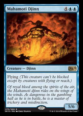 Mahamoti Djinn card from Magic 2015 Core Set