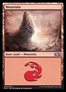 Mountain (263) card from Magic 2015 Core Set