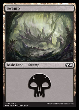 Swamp (259) card from Magic 2015 Core Set