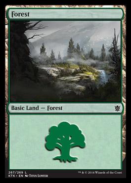 Forest (267) card from Khans of Tarkir