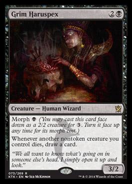 Grim Haruspex card from Khans of Tarkir
