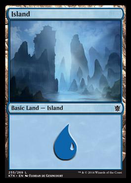 Island (255) card from Khans of Tarkir