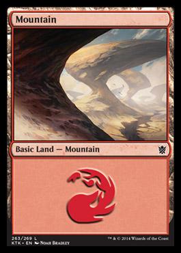 Mountain (263) card from Khans of Tarkir