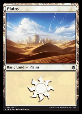 Plains (251) card from Khans of Tarkir