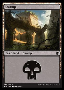 Swamp (259) card from Khans of Tarkir