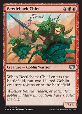 Beetleback Chief card from Commander 2014