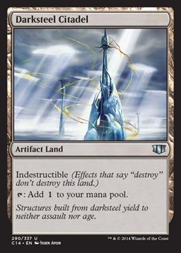 Darksteel Citadel card from Commander 2014