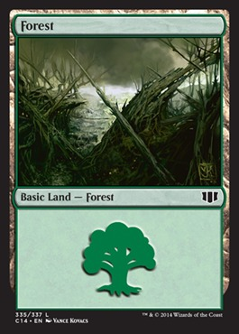 Forest (335) card from Commander 2014
