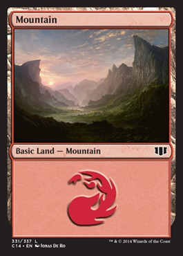 Mountain (331) card from Commander 2014