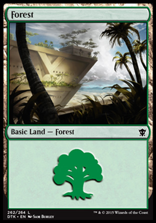 Forest (262) card from Dragons of Tarkir