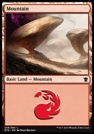 Mountain (259) card from Dragons of Tarkir