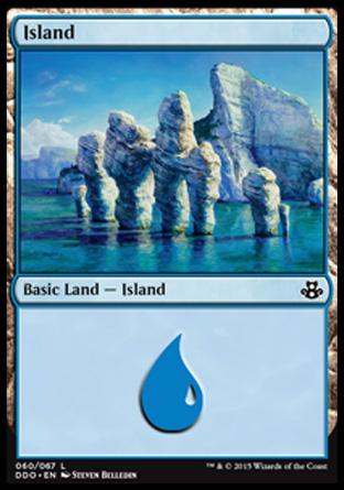 Island (60) card from Duel Decks: Elspeth vs. Kiora