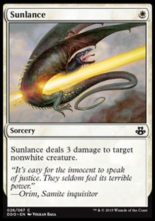 Sunlance card from Duel Decks: Elspeth vs. Kiora