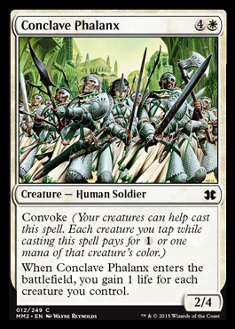 Conclave Phalanx card from Modern Masters 2015 Edition