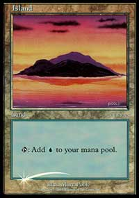 Island (2002) card from Arena Promos