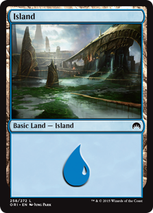 Island (258) card from Magic Origins