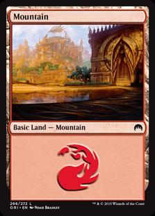 Mountain (266) card from Magic Origins
