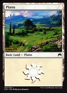 Plains (254) card from Magic Origins