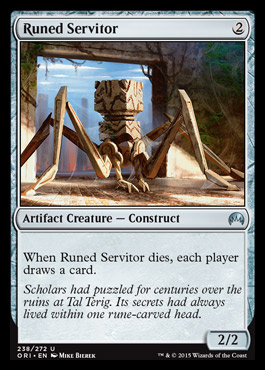 Runed Servitor card from Magic Origins