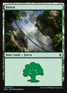 Forest (271) card from Battle for Zendikar