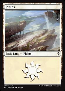 Plains (251) card from Battle for Zendikar