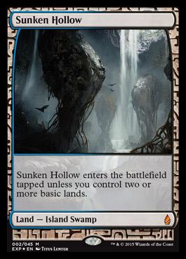 Sunken Hollow card from Zendikar Expeditions