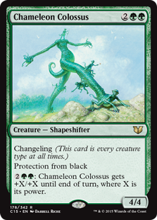 Chameleon Colossus card from Commander 2015