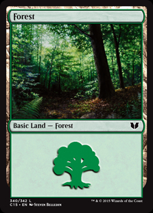 Forest (340) card from Commander 2015
