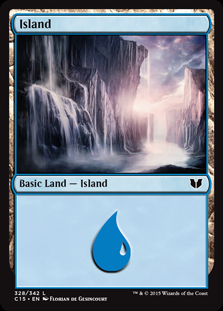 Island (328) card from Commander 2015